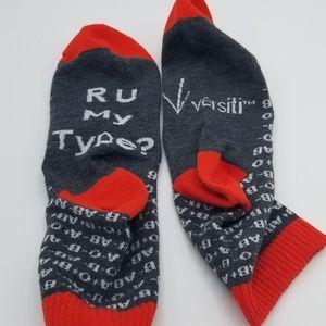 Accessories - NEW Versiti R U My Type Socks? Blood